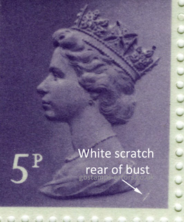 9½p Vertical White Scratch on Bust Cyl 13