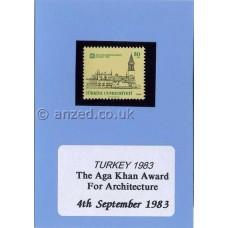 Turkey-1983-Mint-Stamp-Aga-Khan-Architecture-Award-on-Card-AK61
