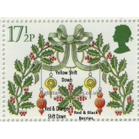 6221-x221-SG-1142-X618-Xmas1980-17½p-3-Colours-shift-Downwards-berries