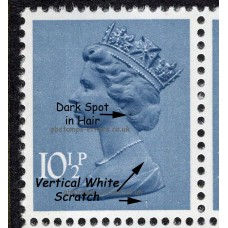 Package11-GB-Definitives-10½P-11½P-8xStamps-with-various-errors